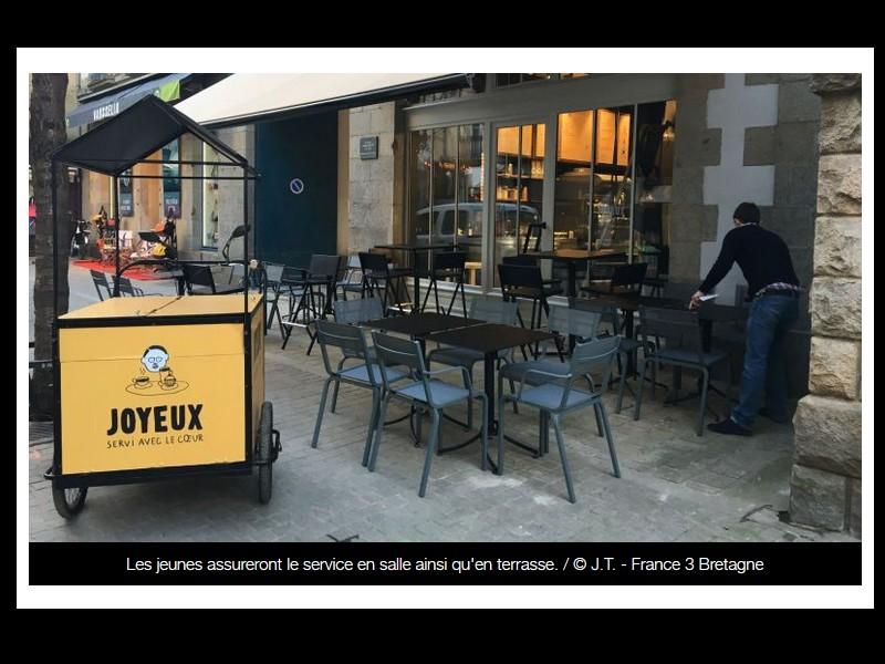 """Rennes : """"Joyeux"""", le café qui place le handicap au coeur de la ville 52211"""