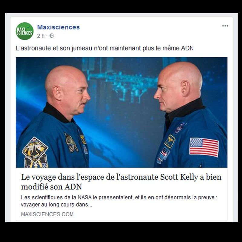 Scott Kelly : le voyage dans l'espace de l'astronaute a bel et bien modifié son ADN Sans1043