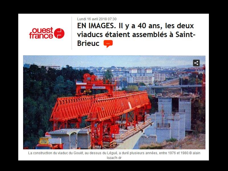 EN IMAGES. Il y a 40 ans, les deux viaducs étaient assemblés à Saint-Brieuc ...  Sans1168