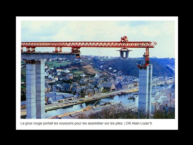EN IMAGES. Il y a 40 ans, les deux viaducs étaient assemblés à Saint-Brieuc ...  Sans1169