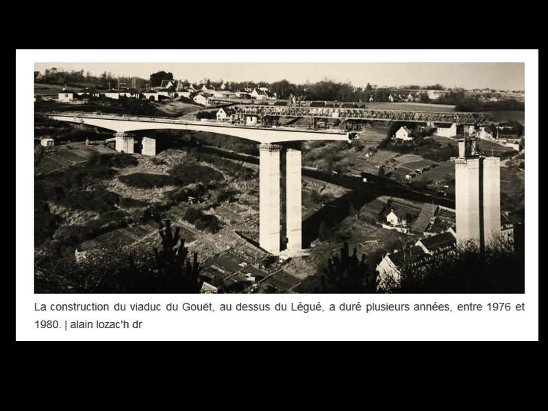 EN IMAGES. Il y a 40 ans, les deux viaducs étaient assemblés à Saint-Brieuc ...  Sans1170