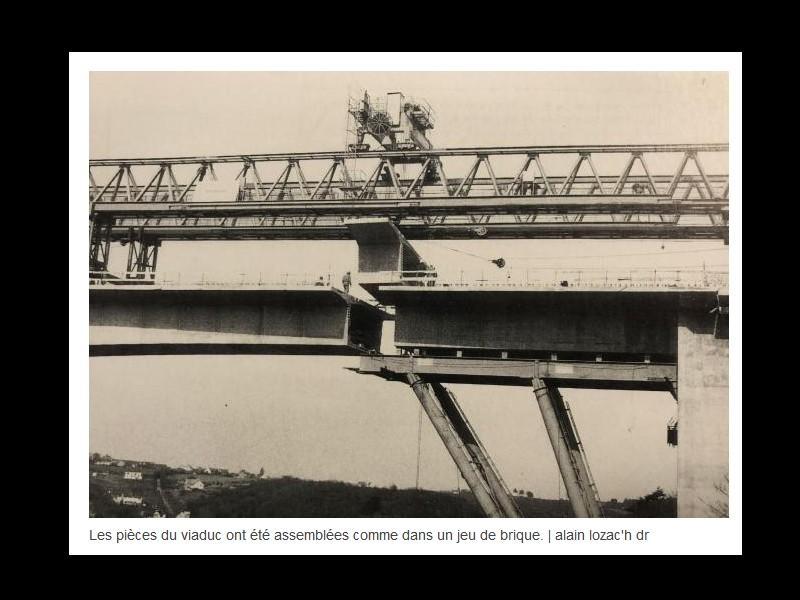 EN IMAGES. Il y a 40 ans, les deux viaducs étaient assemblés à Saint-Brieuc ...  Sans1171