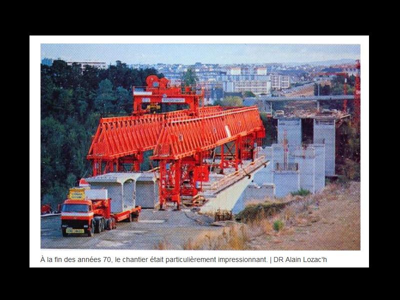 EN IMAGES. Il y a 40 ans, les deux viaducs étaient assemblés à Saint-Brieuc ...  Sans1172