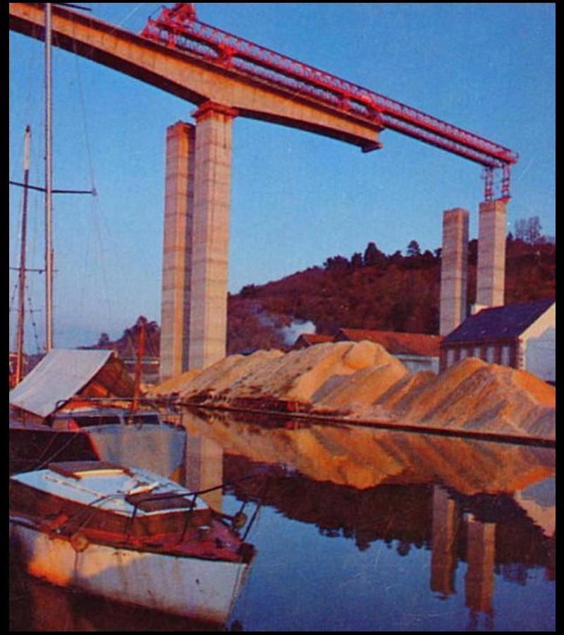 EN IMAGES. Il y a 40 ans, les deux viaducs étaient assemblés à Saint-Brieuc ...  Sans1173