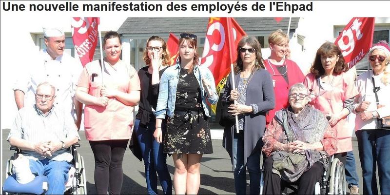 Une nouvelle manifestation des employés de l'Ehpad Sans1222