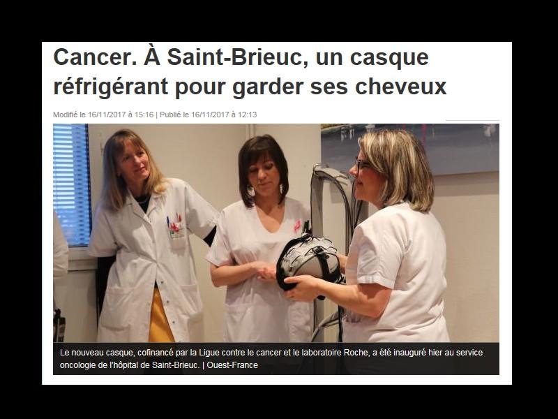 Cancer. À Saint-Brieuc, un casque réfrigérant pour garder ses cheveux Sans_273