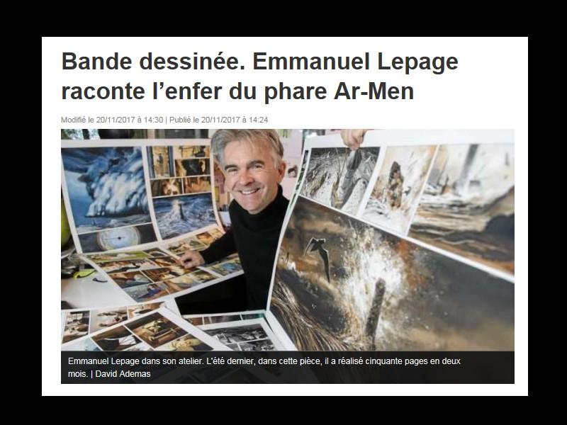 Plourhan ///    Bande dessinée. Emmanuel Lepage raconte l'enfer du phare Ar-Men Sans_345