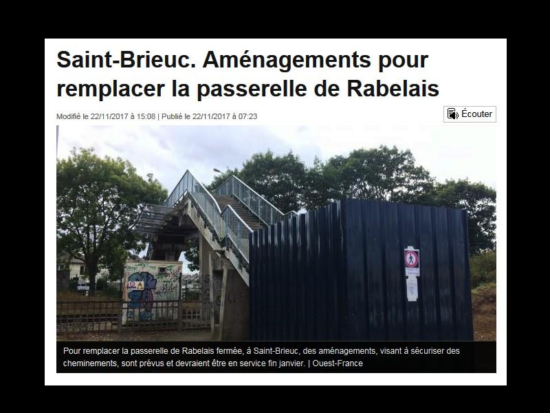 Saint-Brieuc. Aménagements pour remplacer la passerelle de Rabelais // mise à jour le 22.11.2017 Sans_352