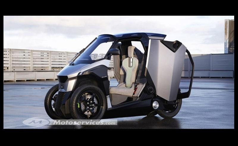 Peugeot PHEV scooter : l'hybride deux places à trois roues ! Sans_491