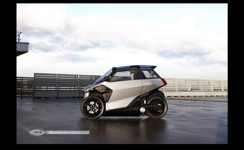 Peugeot PHEV scooter : l'hybride deux places à trois roues ! Sans_493