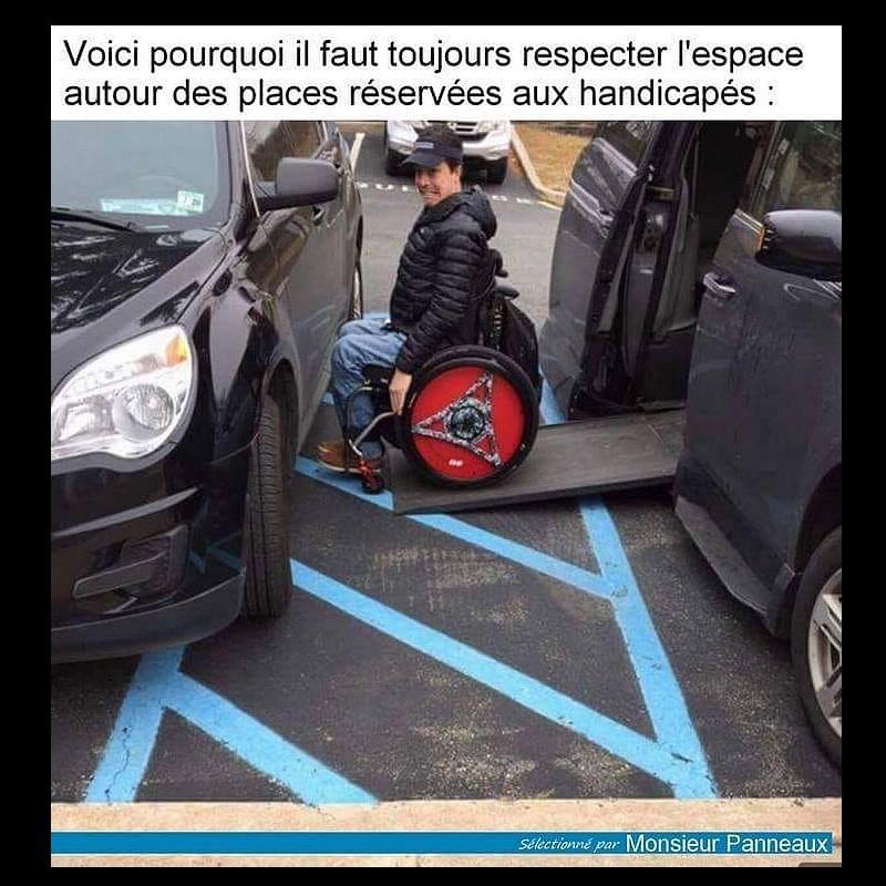 Trop souvent les places de stationnement Handicapées ne sont pas respectées !  Sans_563