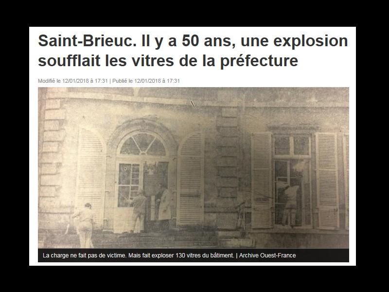 Saint-Brieuc. Il y a 50 ans, une explosion soufflait les vitres de la préfecture  Sans_664