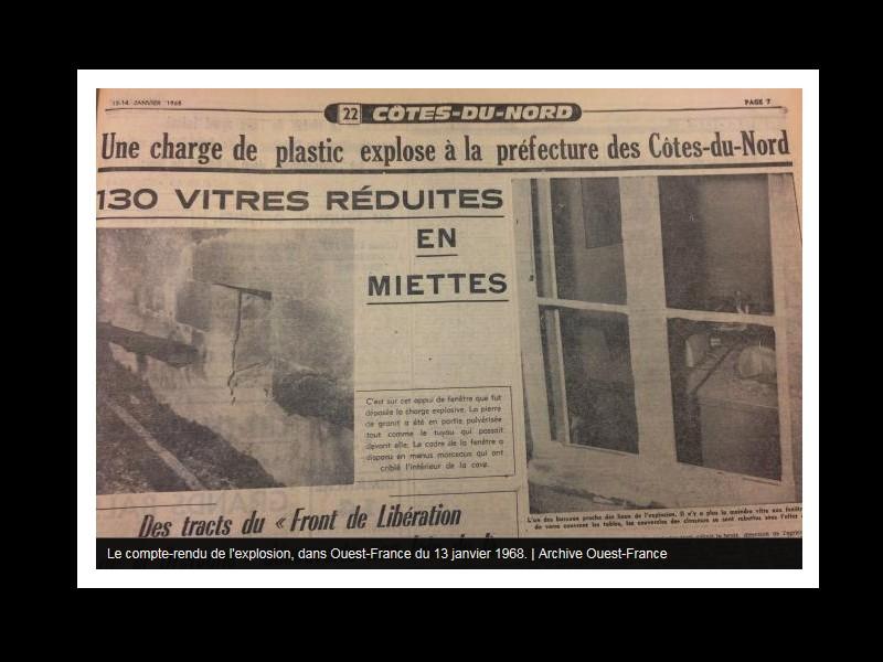 Saint-Brieuc. Il y a 50 ans, une explosion soufflait les vitres de la préfecture  Sans_665