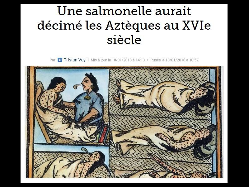 Une salmonelle aurait décimé les Aztèques au XVIe siècle Sans_748