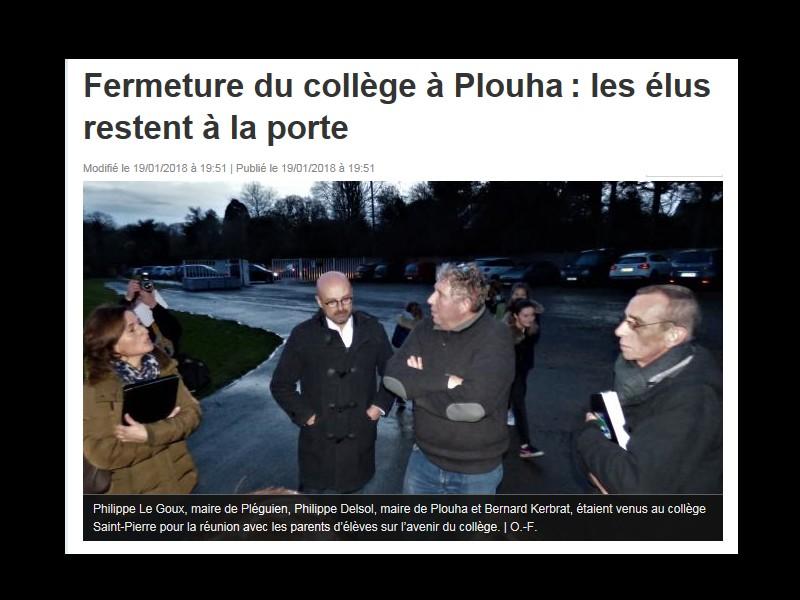 Fermeture du collège à Plouha: les élus restent à la porte  Sans_760