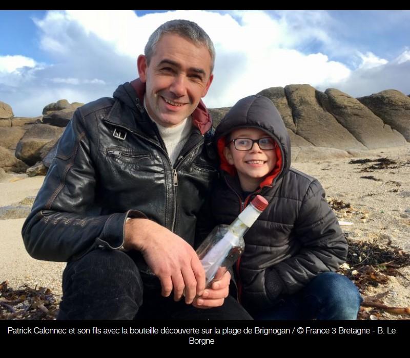 Brignogan : la bouteille à la mer du pêcheur de crabes canadien Sans_903