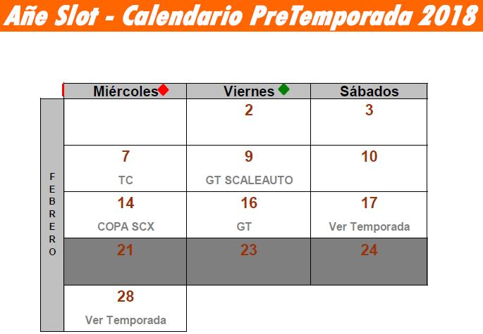 CALENDARIO PRE TEMPORADA 2018 Calend10