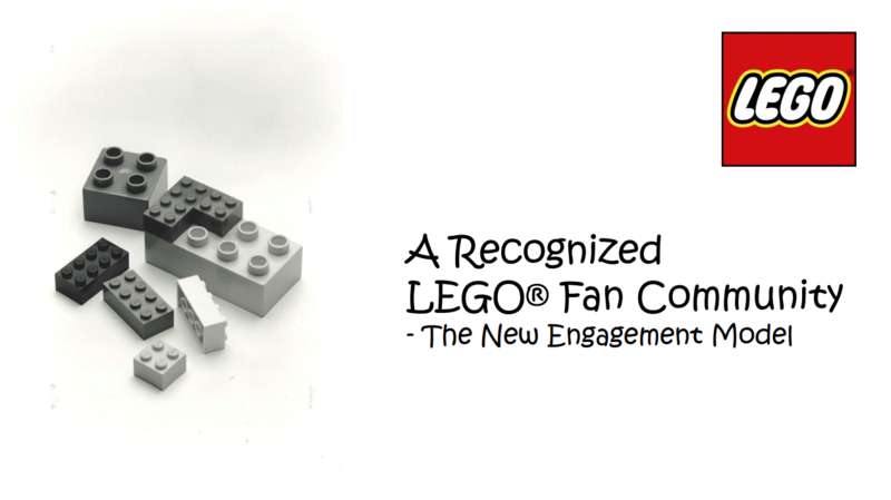 Recognized LEGO Fan Community - New Engagement Model Oio10