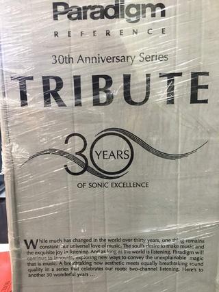 Paradigm Tribute 30th Anniversary Floorstanding Speaker (New) Img_6664