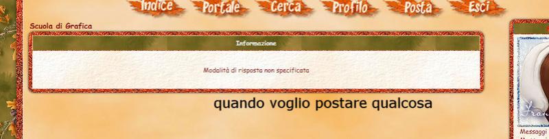 Errore durante l'accesso al forum 110