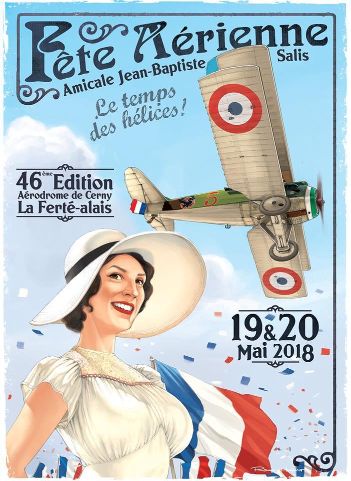 R.HUGAULT : ses affiches des meeting aériens de la Ferté-Allais 59cf2910