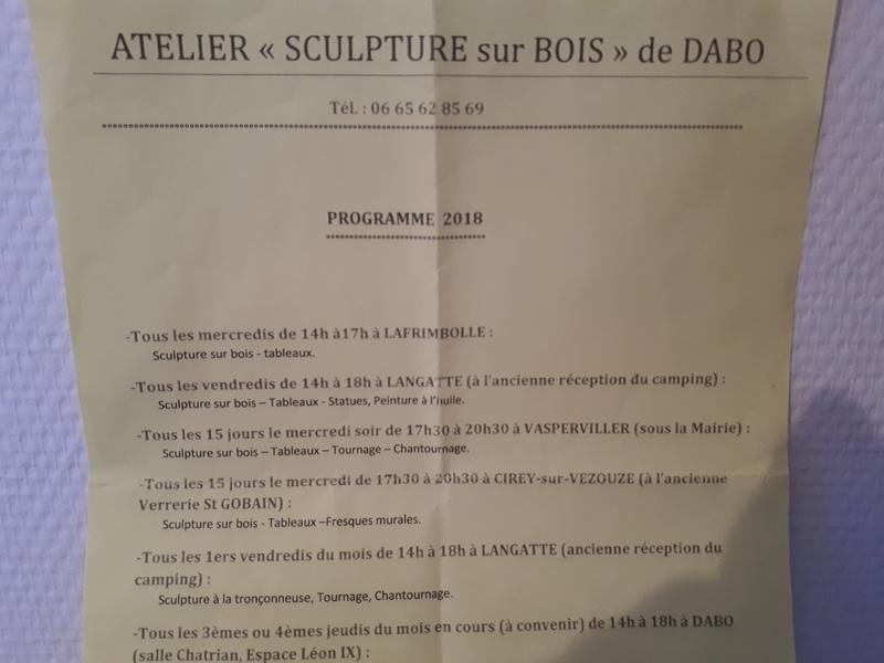 Atelier de sculpture sur bois 20180756