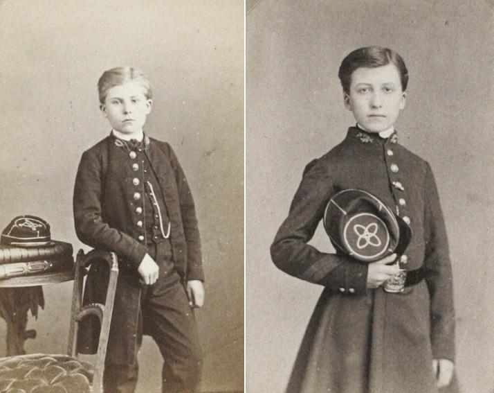 insigne brodé SG col lycéen collègien 1900 1930 28-les10