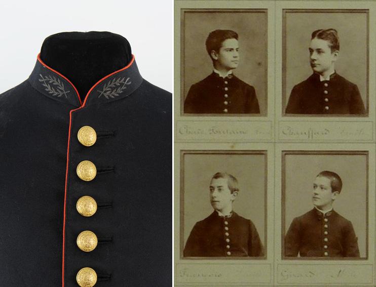 insigne brodé SG col lycéen collègien 1900 1930 32-les10