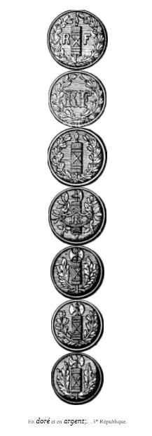 Authentification épaulette trèfle noire avec deux boutons régime de Vichy Fallou11