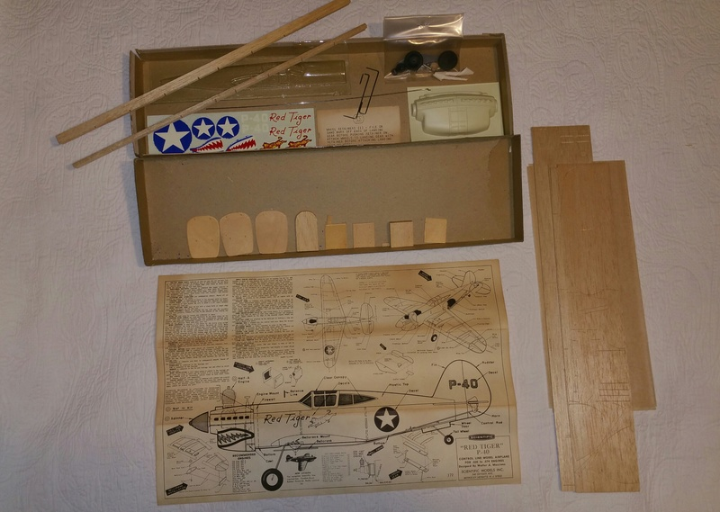 "*SOLD* Walt Musciano Scientific ""Red Tiger P-40"" kit 20171225"
