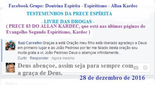 TESTEMUNHOS DA PRECE ESPÍRITA:Livre das Drogas  Drogas10