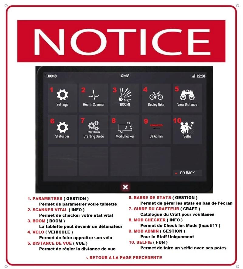 Utilisations de la tablette XM8 Notice11