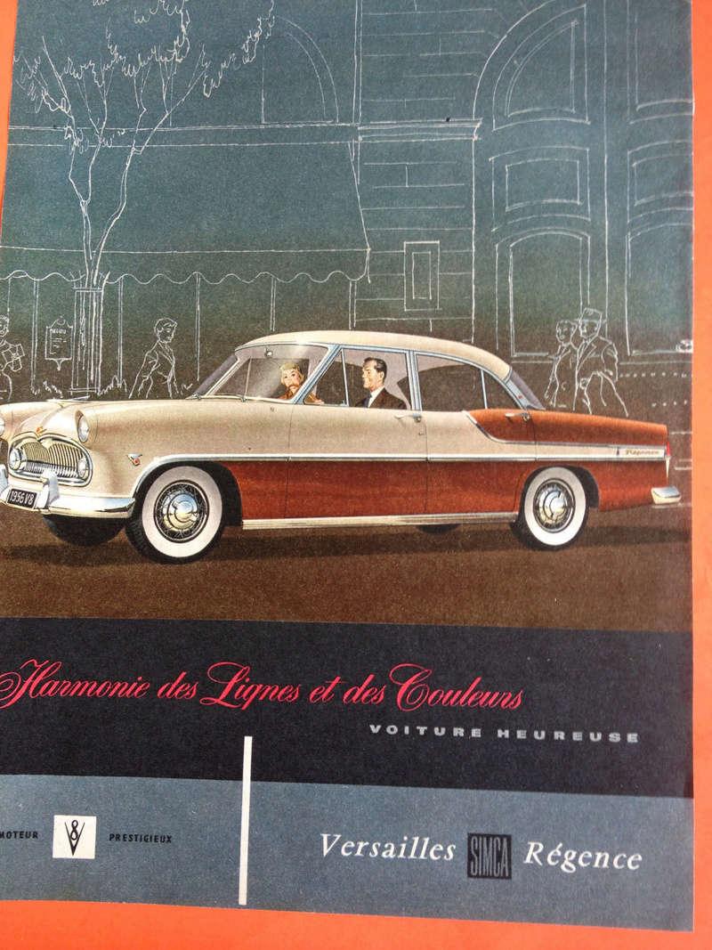 Publicités de  Magazines sur les  Simca Vedette 122