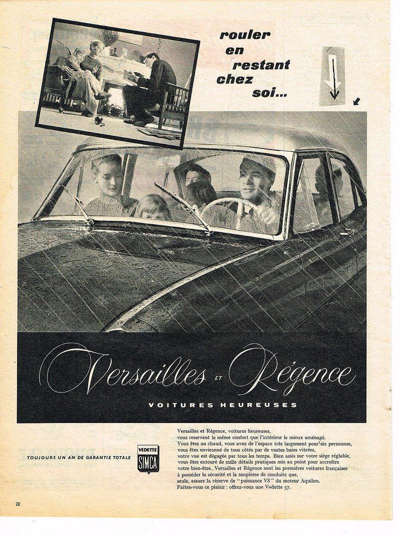 Publicités de  Magazines sur les  Simca Vedette 220