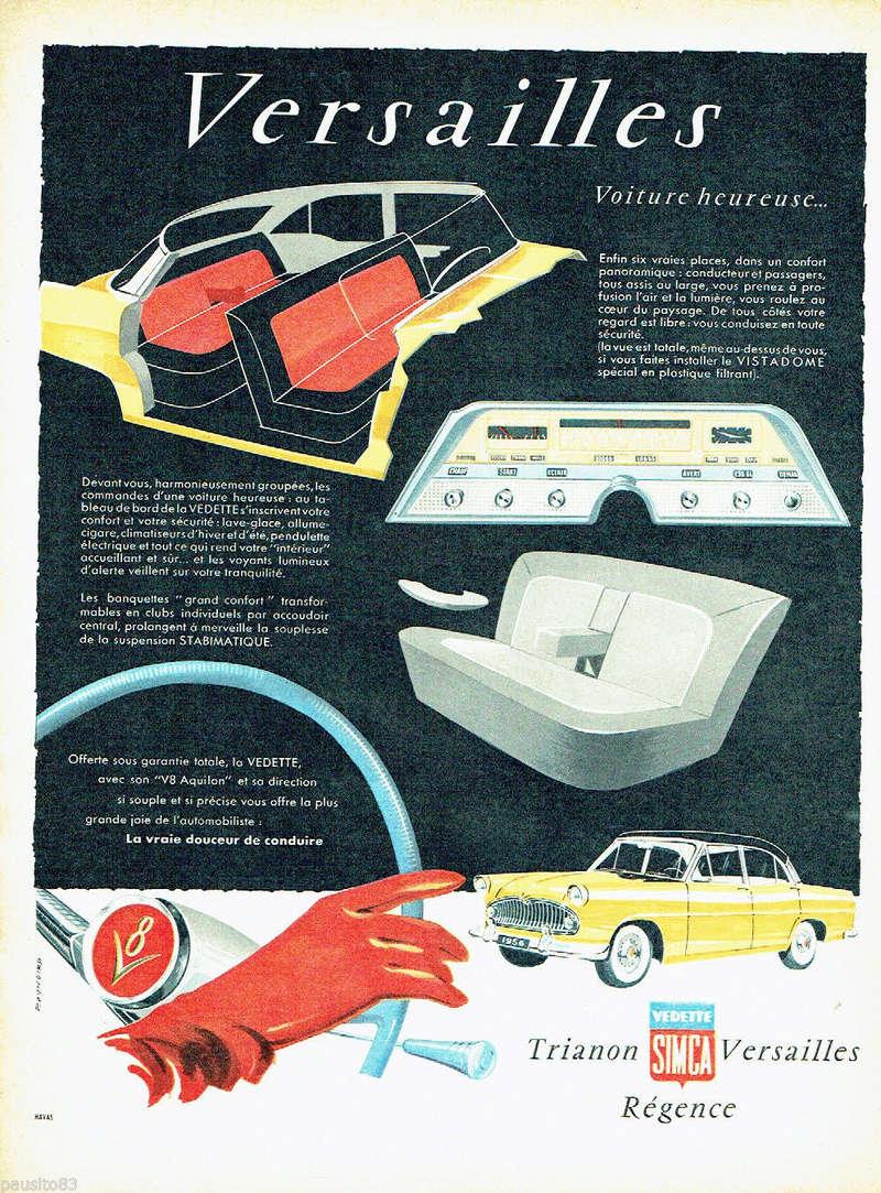 Publicités de  Magazines sur les  Simca Vedette 519