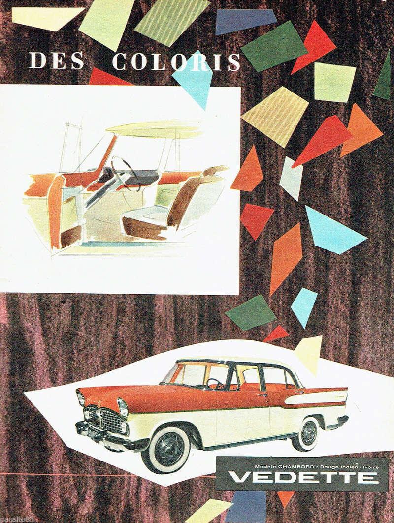 Publicités de  Magazines sur les  Simca Vedette 818