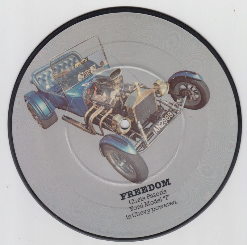 PIcture disc UK Hot rod and Custom car - late 1970 early 1980 Cruisin series Hotrod11