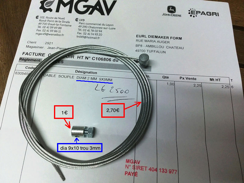 Kit perso - Dépannage embrayage - 3€70 Cabled10