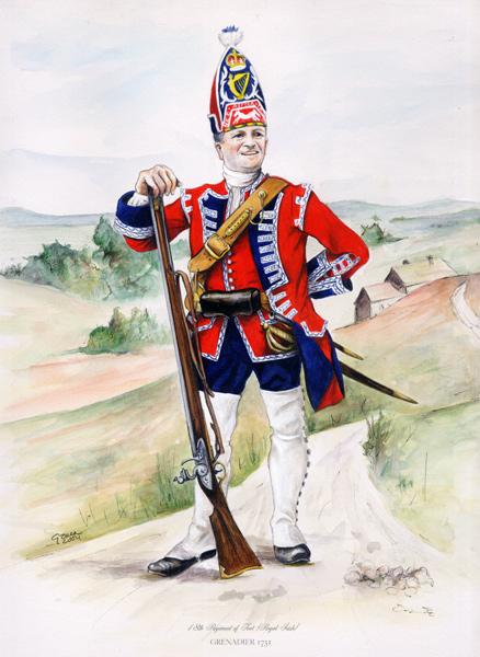 grenadier anglais du 18th Foot en 1751 Gb-gre10