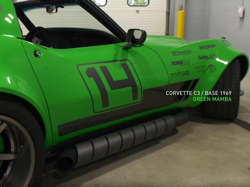 "Corvette ""Green Mamba"" ... Une Hot wheels en grand ! 111"