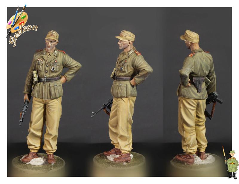 DAK - Soldat Afrika Korps 1/35ème - peinture terminéé Fini_010