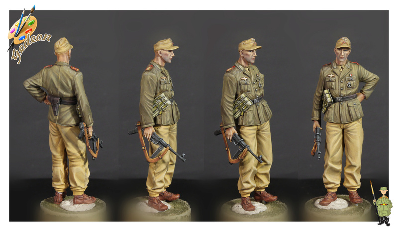 DAK - Soldat Afrika Korps 1/35ème - peinture terminéé Fini_011