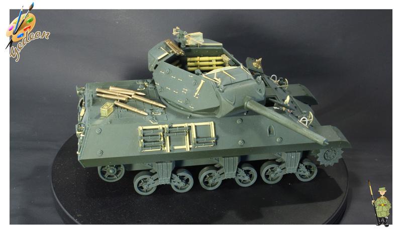 US.M10 Tank destroyer au 1/35 de la marque ACADEMY Mise en place équipements Img_0615