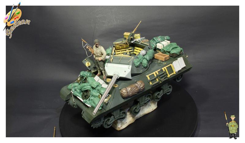 US.M10 Tank destroyer au 1/35 de la marque ACADEMY Mise en place équipements Img_0913