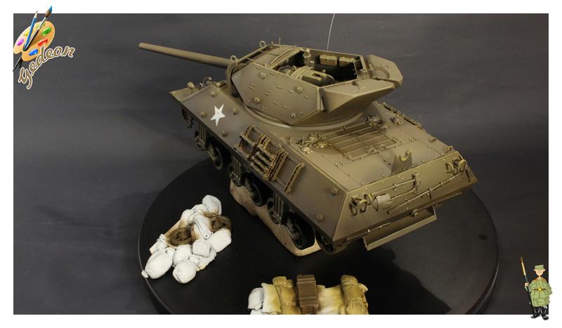 US.M10 Tank destroyer au 1/35 de la marque ACADEMY Mise en place équipements Img_0916