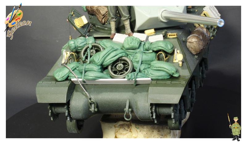 US.M10 Tank destroyer au 1/35 de la marque ACADEMY Mise en place équipements Img_0918