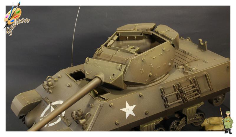 US.M10 Tank destroyer au 1/35 de la marque ACADEMY Mise en place équipements Img_1010