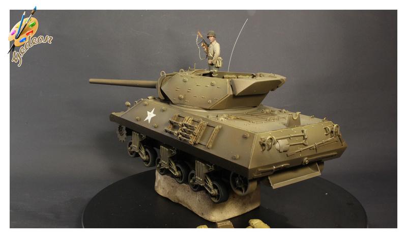 US.M10 Tank destroyer au 1/35 de la marque ACADEMY Mise en place équipements Img_1011