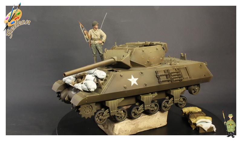 US.M10 Tank destroyer au 1/35 de la marque ACADEMY Mise en place équipements Img_1012