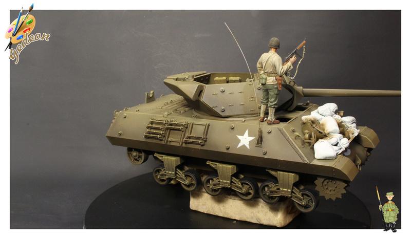 US.M10 Tank destroyer au 1/35 de la marque ACADEMY Mise en place équipements Img_1013